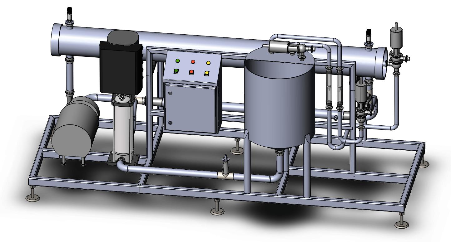 Тестовая установка фильтрации, сыворотки и молока